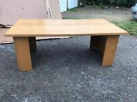 Wooden coffee table with free delivery