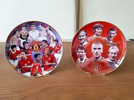 Manchester United Memorabilia 2 x Manchester United Collectors Plates