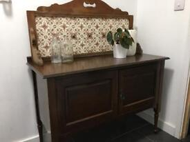 Antique wash station cupboard