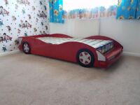 Boys bed with mattress , standard size single bed