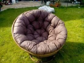 Retro round bamboo chair