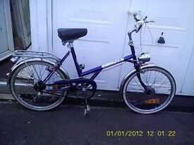 """DAWES SHOPPING BIKE WITH 20"""" WHEELS 3 GEARS M/GUARDS RACK STAND"""