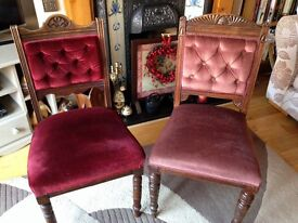 Two beautiful bedroom/ hall chairs
