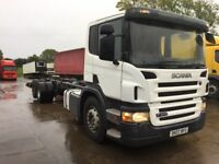 2007 Scania P 310 6x2. 30 ft chassis cab