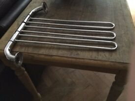Two Chrome towel rails surplus to requirements