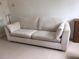 Cream 4 seater sofa
