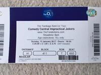 2 x Impractical Jokers Tickets - O2 London - Sunday 15th January 2017