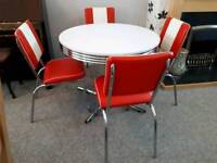 retro style American diner table , chairs
