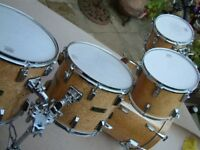 Cannon Bird's Eye maple drum shell pack - '90s - Top-of-the-range