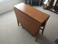 Drop Leaf Table With Built In Cupboards Very Space Efficient Reduced To Clear as Space Required as