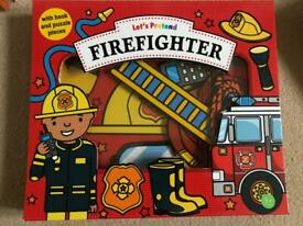 Fireman puzzle book with facts and fun!