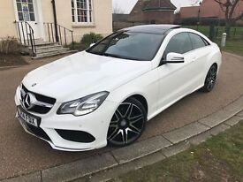 Mercedes E220 Cdi AMG Sport White Coupe Auto *High Spec - Pan Roof + Upgrades, Seats FSH, HPI CLR 14