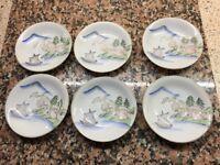 Vintage Japanese Porcelain Coffee Set For Sale