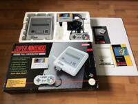 Snes Super Nintendo console boxed marioworld