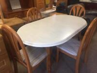 5ft Pine Dining Table with 4 Chairs