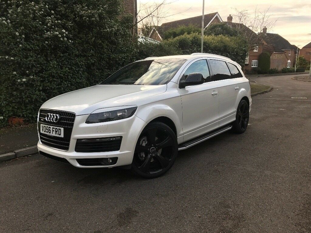 audi q7 white s line full abt kit 22 gloss black alloy. Black Bedroom Furniture Sets. Home Design Ideas
