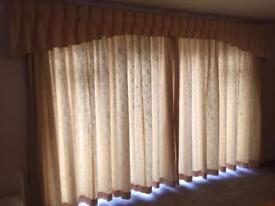 Full length curtain with poles/runners