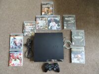 PS3 + 1 controller + 9 games