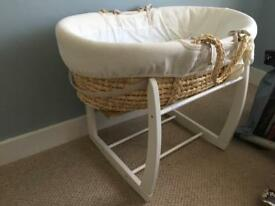 Mamas & Papas Moses basket - plus spares (strengthened)
