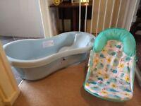 Baby bath seat and baby bath