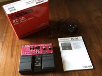 Loop Pedal Boss RC-30 New in box plus adapter