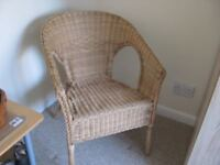 brand new unwanted wick chair, ideal for bedroom etc