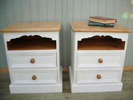 Stunning Pine Bedside Cabinets.