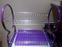 Violet Colour Drying rack with drip tray