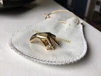 Vintage Charles Jourdan Golden Hand Mono Ear Stud