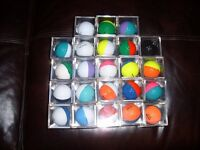 PING COLOURED GOLF BALLS