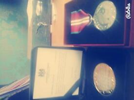 Queens Diamond Jubilee Medal + London 2012 Games Medallion.