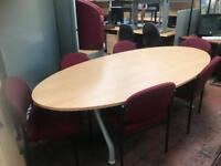 Oval Conference Table & 6 Chairs Package