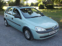 2002 VAUXHALL CORSA GLS 16v 1.2, MOT JULY 2017, ONLY 68,000 MILES, ONLY £595
