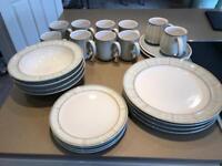Denby Mist Dinner Set virtually new