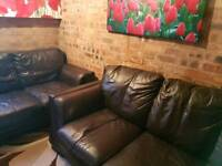 3+2 seater leather sofas