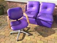 Swivel hairdressing chair And two sofa chairs