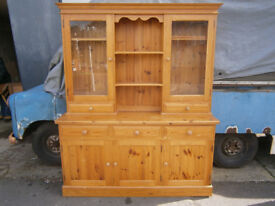 LARGE PINE KITCHEN DRESSER IDEAL SHABBY CHIC UPCYCLE IN YEOVIL