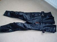 HARLEY DAVIDSON HARRO leather motorcycle trousers
