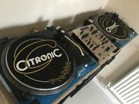Pair Or Citronic PD-1 Turntables & Numark DM1001EX Mixer