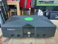 Original Xbox with accessories and games