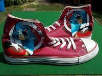 Converse All Star Marvel Avengers/Captain America Hi Tops Deep Red Size 10 Never been worn.