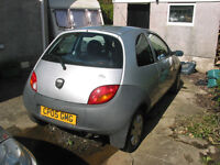 Ford Ka – For Sale, Spares or Repair. 2005, 46,500m, silver 3 door. MoT rust failure . 4 new tyres