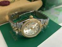 LADIES Rolex Datejust diamond bezel two tone, women's rolex