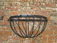 Half moon metal wall baskets