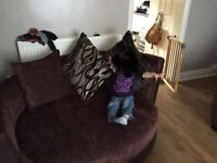 DFS Cuddle sofa and large two seater