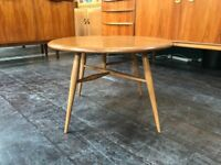 Drop Leaf Coffee Table in Elm and Beech by Ercol. Retro Vintage Mid Century
