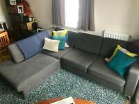 Schreiber L Corner Sofa - Great Condition - Like Habitat Natuzzi Swoon Loaf Sofaworks DFS