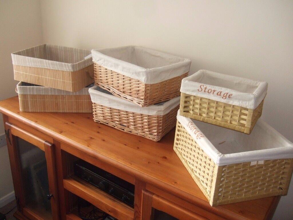 Storage Baskets x 6.