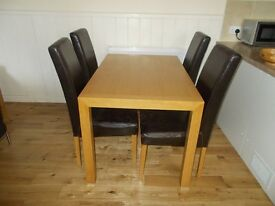 Ikea table and chairs with matching cupboard and coffee table