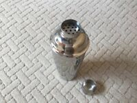 Classic Polished Stainless Steel Cocktail Shaker Set (In 3 Parts). Used. Makes Great Martinis!